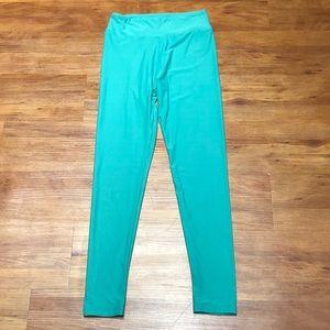 Turquoise LuLaRoe leggings